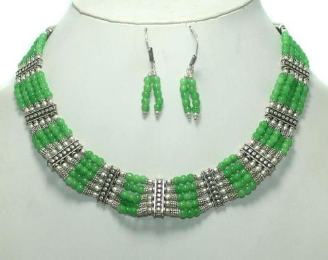German Silver Necklace Green