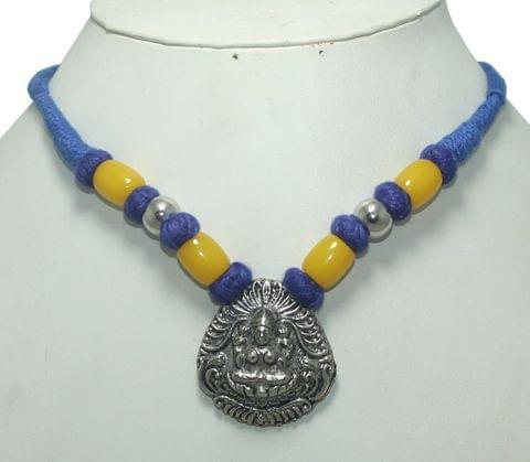 German Silver Necklace Blue