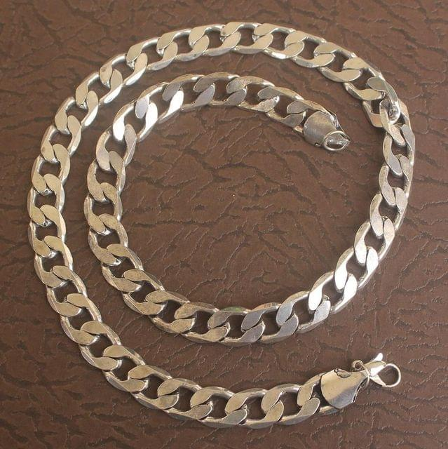 German Silver Solid Curb Chain