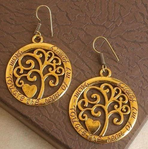 German Silver Earring Gold