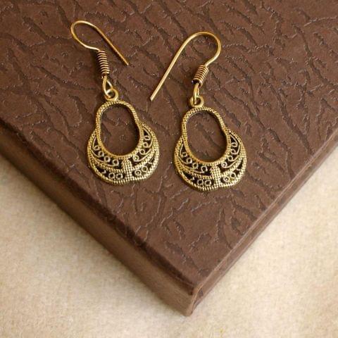 German Silver Earring Gold