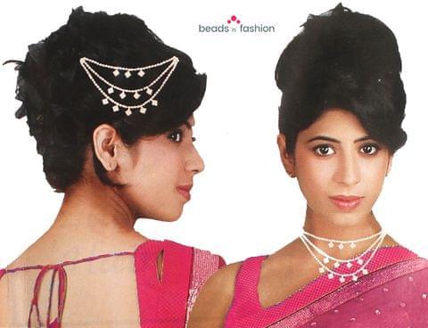 AD Stone Hair Chain