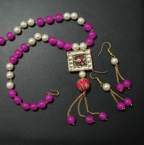 Glorious Pink Kundan set
