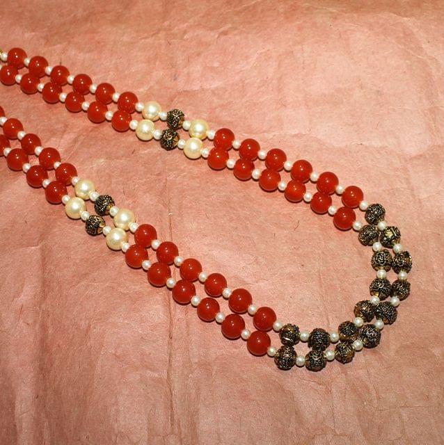 Designer 2 Layer Beaded Necklace