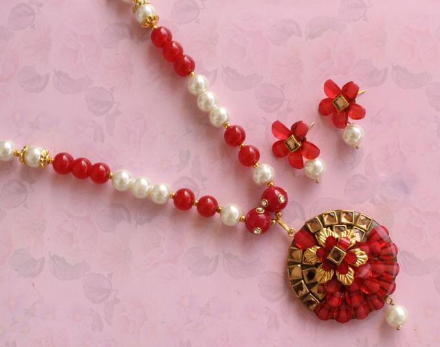 Designer Beaded Takkar Work Necklace
