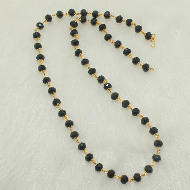 Crystal Faceted Beaded Mala Black