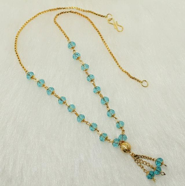 Crystal Faceted Beaded Mala Turquoise