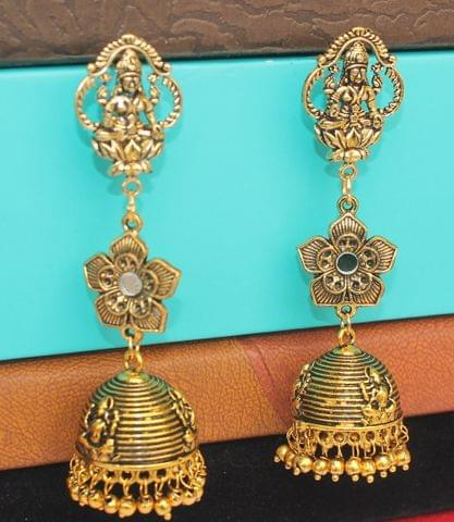 Gold Plated German Silver Jhumka Earring
