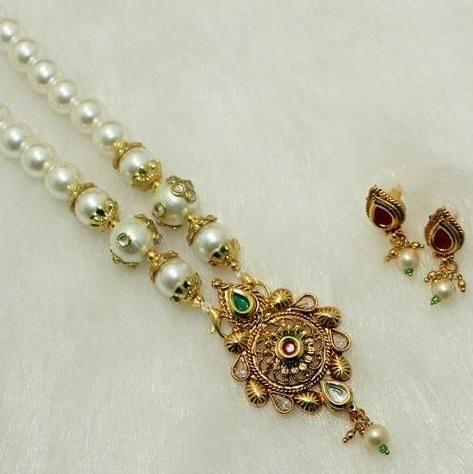 Beaded Kundan mangalsutra Set