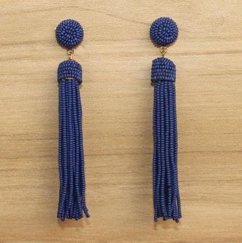Designer Beaded Fringe Earring