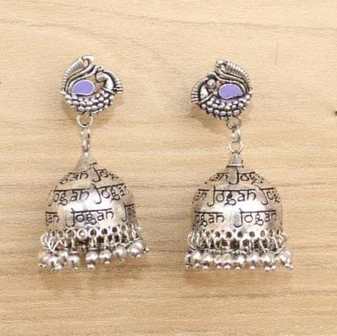German Silver Meenakari Jhumka Earring