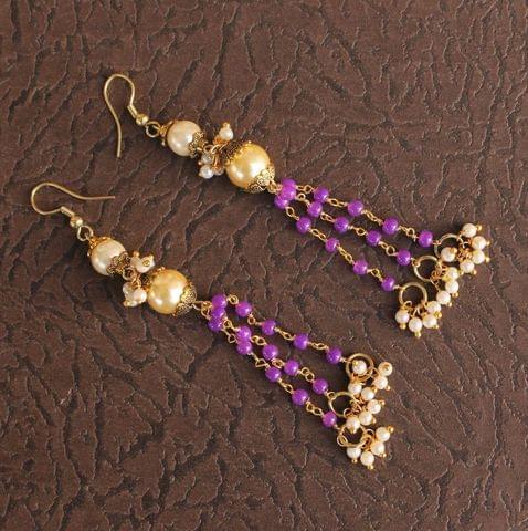 Designer Beaded Pearl Earring