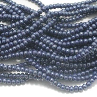 Grey Glass round beads 4mm 12 Strings