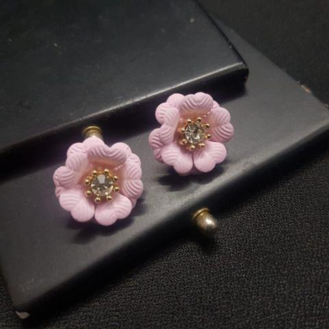 Baby Pink Flower style Earrings