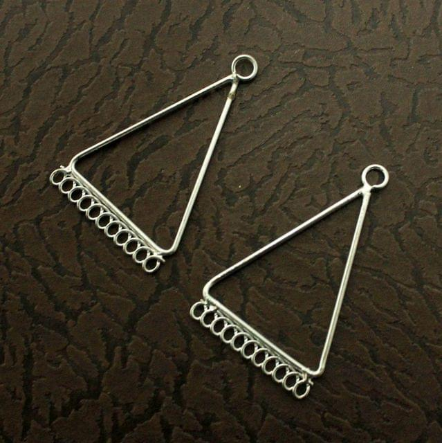 5 Pairs Metal Earrings Components Triangular 2 Inch