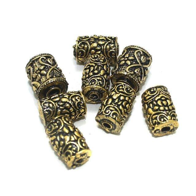20 Pcs Golden German Silver Beads 15x10mm