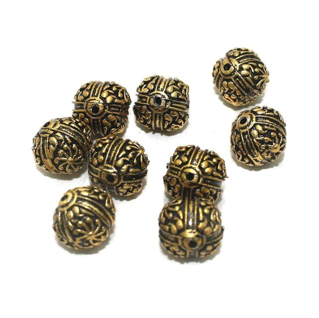 20 Pcs Golden German Silver Beads 15x14mm