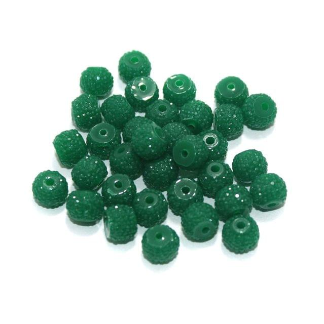 100 Pcs Acrylic Sugar Beads 7x8mm Green
