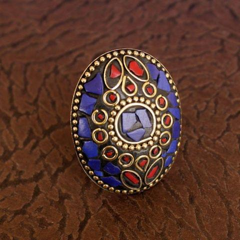 Designer Tibetan Finger Rings Multicolor