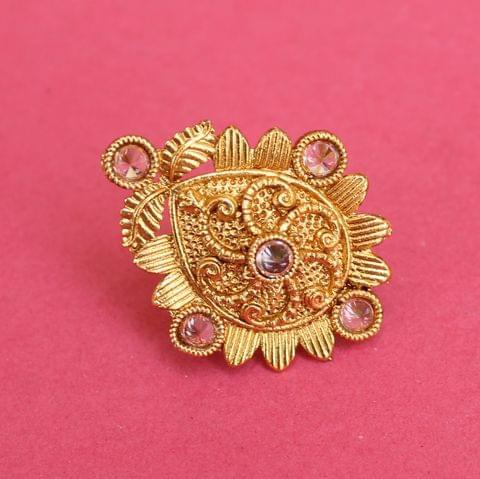 Golden Adjustable Kundan Finger Rings