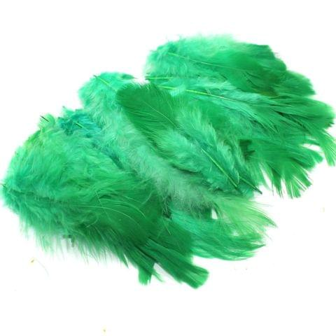100 Jewellery Making Feather Parrot Green