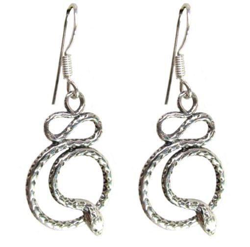 Sterling Silver Snake Earring