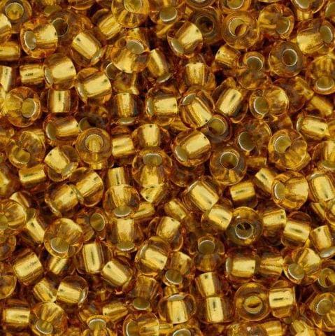 Preciosa Seed Beads Silver Line Golden 17050 (6`0)