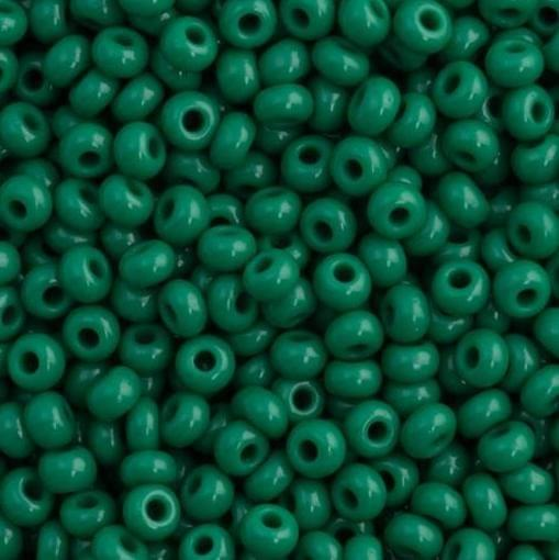 Preciosa Seed Beads Opaque Dark Green 53240 (6`0)