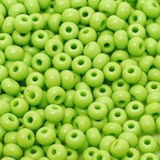 Preciosa Seed Beads Opaque Parrot Green 53410 (6`0)