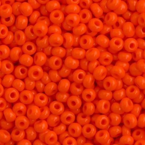 Preciosa Seed Beads Opaque Orange 93140 (6`0)