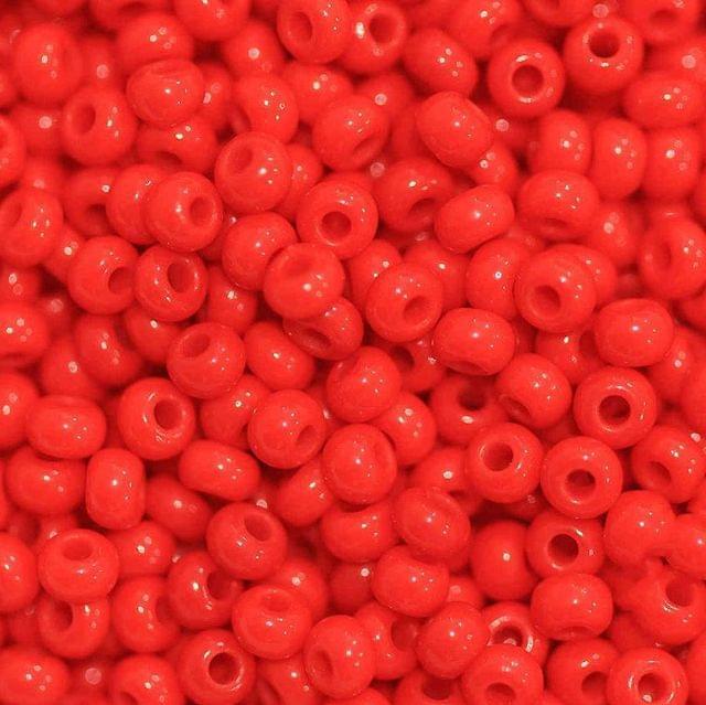 Preciosa Seed Beads Opaque Red 93170 (6`0)