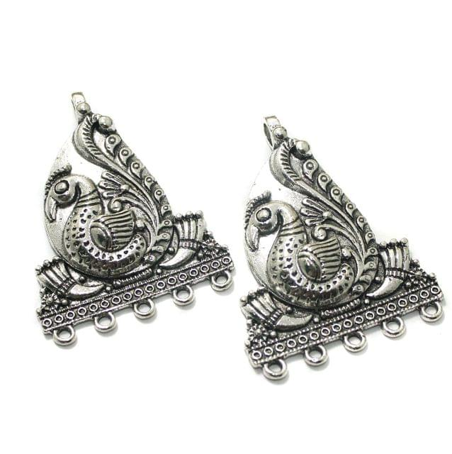 2 Pcs German Silver 52x40mm Earring Components