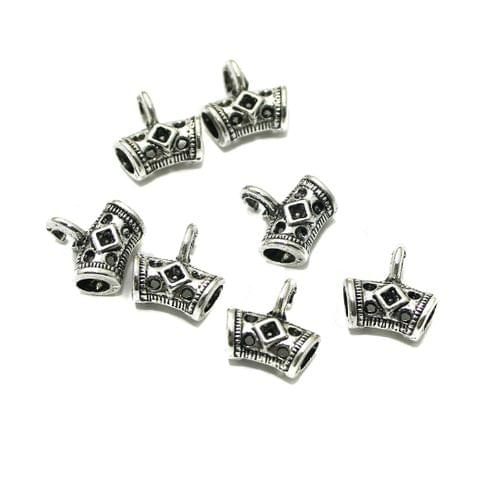 20 Pcs German Silver 11x11mm Charms Silver