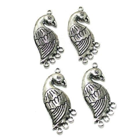 10 Pcs German Silver 46x18mm Earring Components