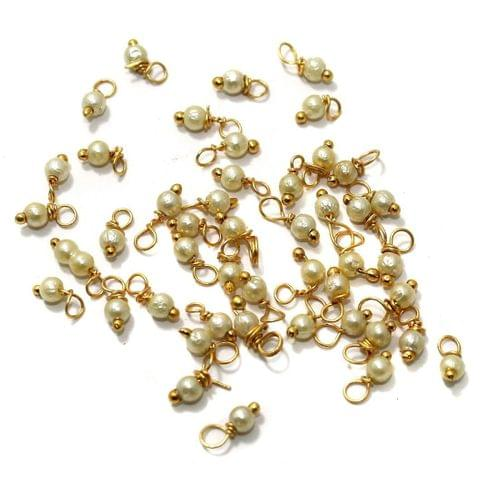 50 Gm Loreal Pearl Beads 3mm golden