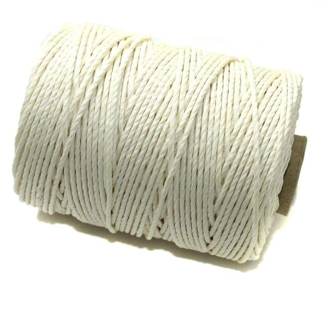 100 Mtrs. Jewellery Making Hemp Cord White 2mm