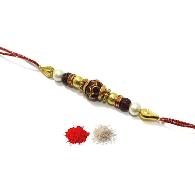 Pacchi Beaded Rakhi For Girls With Roli Chawal