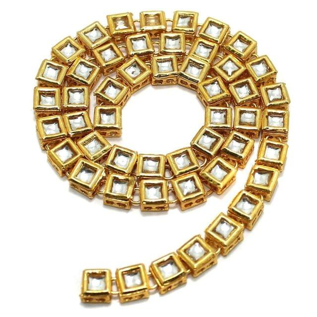 50 Pcs Golden Kundan Kadi Squar Shape