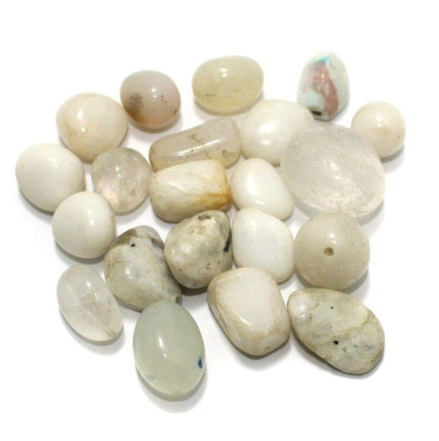 100 Stone Beads Assorted Size / Shape 15x32mm