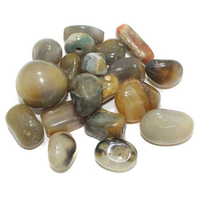 100 Stone Beads Assorted Size / Shape 16x27mm