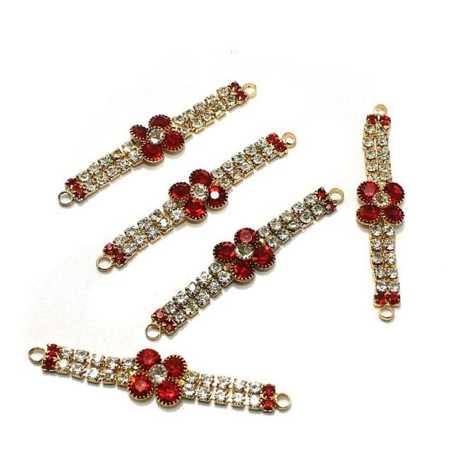 5 Pcs Rhinestone Multicolor Rakhi Connectors