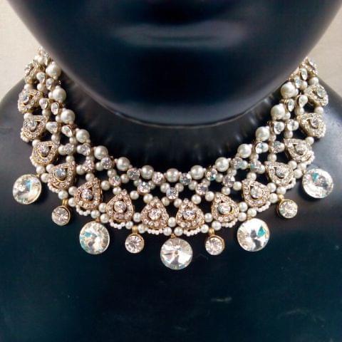 Kundan Pearl jewelry set