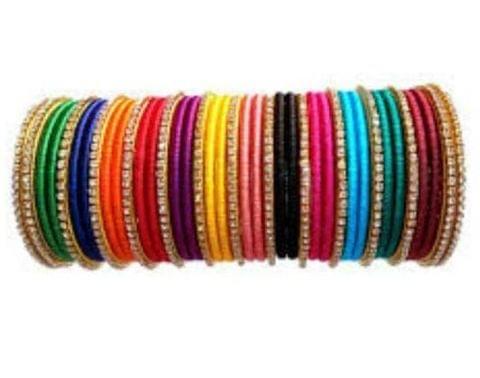 Thread bangle 22 Pcs Size 2-6 Multicolored