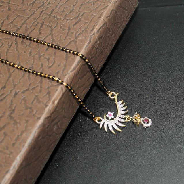 Black Chain AD Mangalsutra For Women