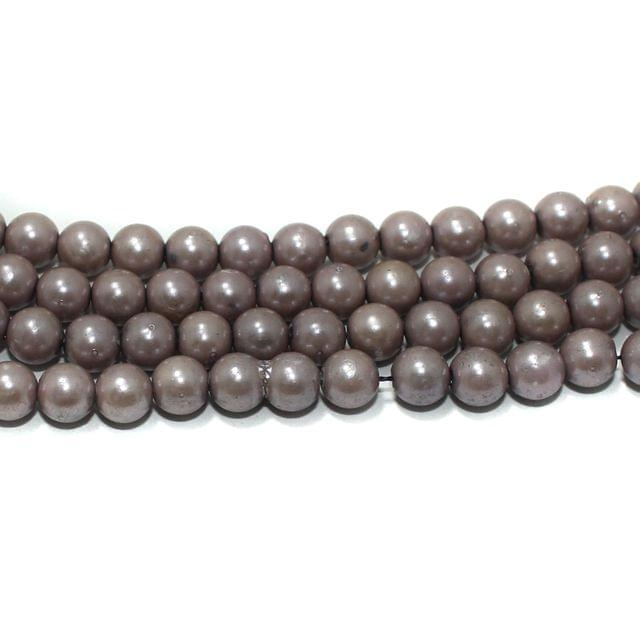 6mm Acrylic Pearl Round Beads 2 Strings