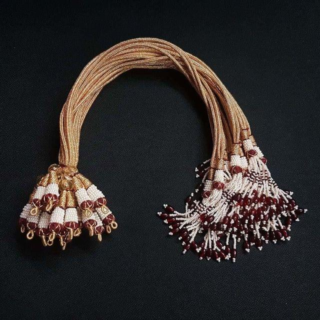 1 Dozen, 12 Inch Maroon Colour Necklace Dori (Sarafa)