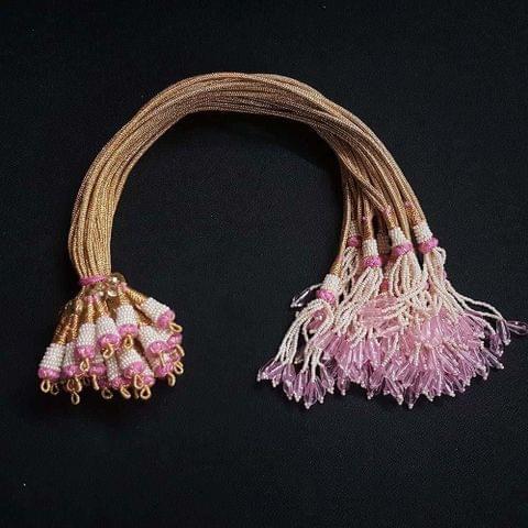 1 Dozen, 12 Inch Baby Pink Necklace Dori (Sarafa)