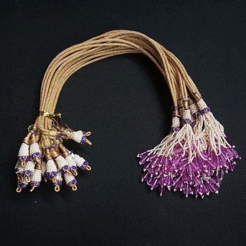 1 Dozen, 12 Inch Purple Necklace Dori (Sarafa)
