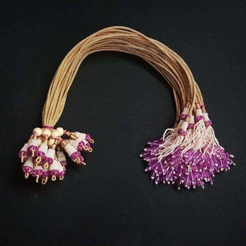 1 Dozen, 12 Inch Dark Purple Necklace Dori (Sarafa)