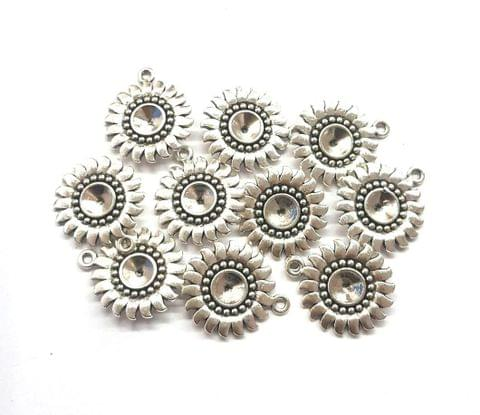 20 pcs, German Silver Charms, 24x20 mm